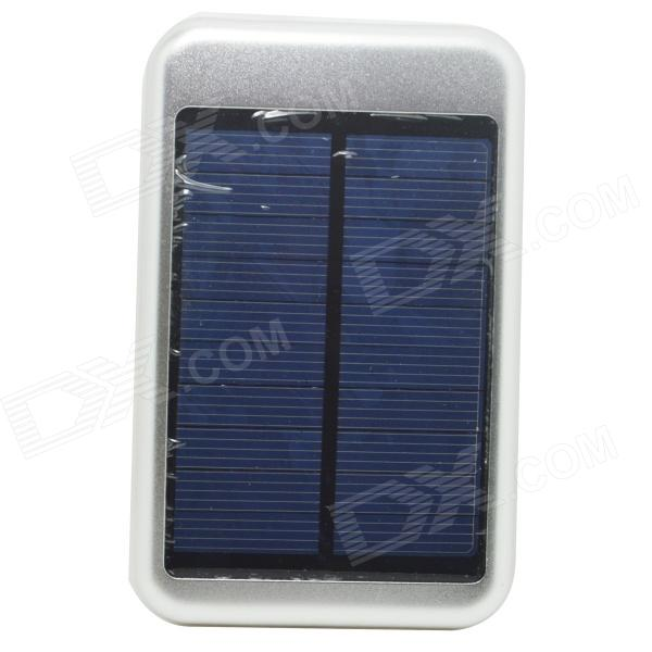 JY-6000T Solar Energy Powered 5000mAh Charger Power Bank for IPHONE / Samsung - Silver