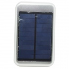 "JY-6000T Solar Energy Powered ""5000mAh"" Charger Power Bank for IPHONE / Samsung - Silver"