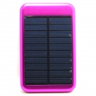 "JY-6000T Solar Powered ""5000mAh"" Li-polymer Battery Power Bank for IPHONE / Samsung - Dark Pink"