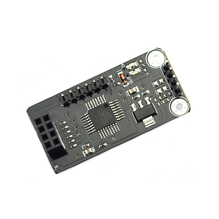 MaiTech 03100623 ATMEGA48 + NRF24L01 Interface Wireless Development Board Module - Black nrf24le1 wireless data transmission modules with wireless serial interface module dedicated test plate