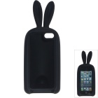 Cute Rabbit Style Protective Silicone Back Case for IPHONE 5 / 5S - Black