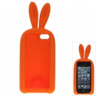 Cute Rabbit Style Protective Silicone Back Case for IPHONE 5 / 5S - Orange
