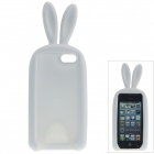 Cute Rabbit Style Protective Silicone Back Case for IPHONE 5 / 5S - White