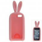 Cute Rabbit Style Protective Silicone Back Case for IPHONE 5 / 5S - Pink