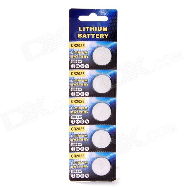 Rechargeable LIR2025 Lithium Button Batteries (5 PCS / 3.6~4.2V) goop cr2025 3v lithium cell button batteries 5 x 10 pcs