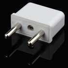 HW01 6A 200W US / EU / AU Socket to EU Plug AC Power Adapters - White (10 PCS / 125~250V)