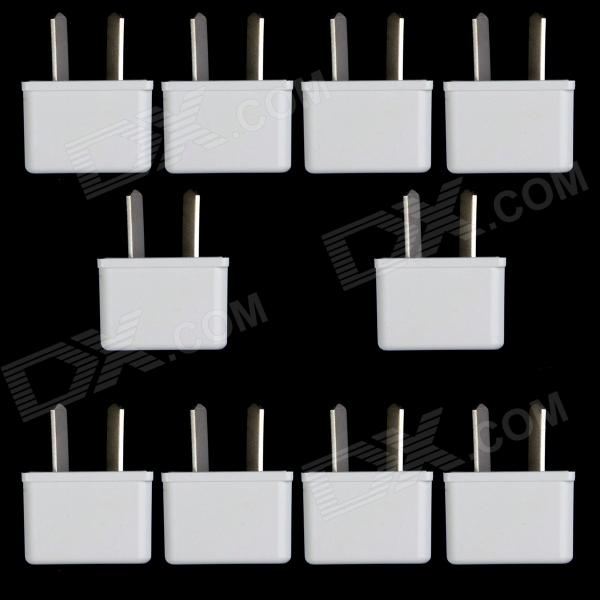 US / EU / AU Socket to AU Plug AC Power Adapter Plug - White (10 PCS / 125~250V)