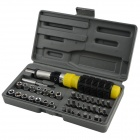 41-in-1 Removable Screwdriver Combination Set - Black + Yellow