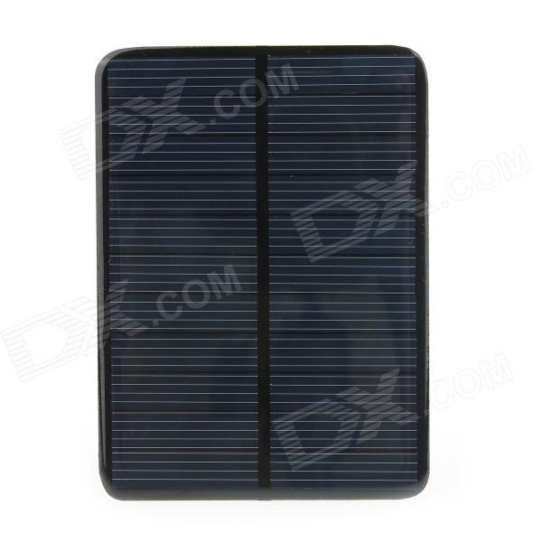 DIY GDW 112 x 82mm 1W Solar Powered Charging Panel - Black wn 09 5v 200ma solar power panel black light blue 112 x 82mm