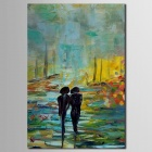 Iarts Landscape Lovers Walking Along Countryside Hand Painted Oil Painting