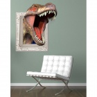3D Tyrannosaurus Rex Wall Sticker Decal - bianco + marrone + rosa