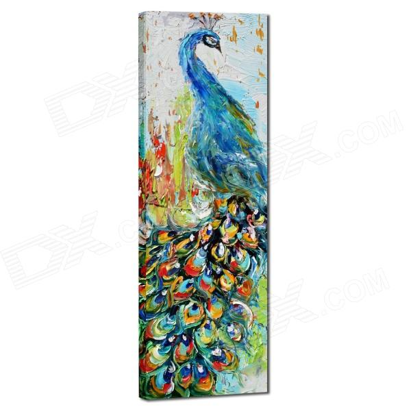 Iarts AHA050601 Animal Knife Painted Peacock Hand Painted Oil Painting iarts hand painted blue vase oil painting 60 x 40cm