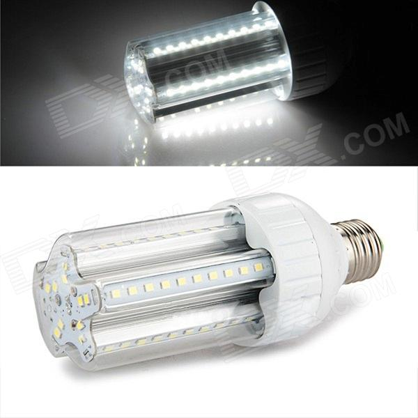 E27 12W 950lm 6500K 60 x SMD 2835 LED White Light Corn Lamp Bulb - Silver + White (AC 85~265V)