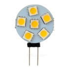 G4 1W 100lm 3000K 6-SMD 5050 LED Warm White Polarity Free Car Instrument Light / Reading lamp (12V)