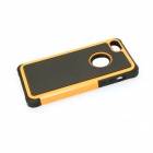 Robot Protective Silicone Back Case for IPHONE 5 / 5S - Orange + Black