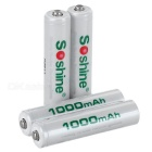 Soshine RTU 900mAh Rechargeable AAA Ni-MH Batteries - White (4PCS)