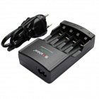 Soshine SC-U1(V2) 4-Slot AA / AAA Intelligent Battery Charger w/ EU Plug Cable - Black (90~260V)
