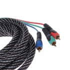 SUOER VGA-03 Copper AV Cable VGA to 3-RCA Component Video & Audio Connection Cable - Black (180cm)