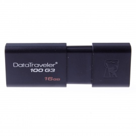 Kingston DT100G3-16GB High speed USB 3.0 Flash Drive - Black (16GB)