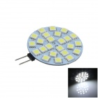 G4 4W 400lm 6000K 24-SMD 5050 LED White Polarity Free Car Instrument Light / Reading lamp (12V)