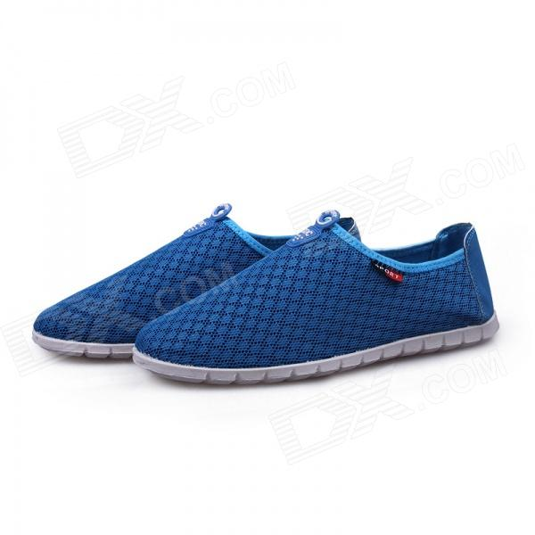 Casual Mesh Cloth Shoes - Blue + White (EUR Size 43)