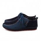 Casual Lace-up Canvas Shoes - Deep Blue (EUR Size 43)