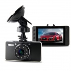 "G3WHIR 3.0"" Full HD 1080P 5.0MP CMOS 17' Wide Agnle Night Vision G-sensor Car DVR - Black + Sliver"