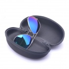 Casual Classical UV400 PC Lens Sunglasses w/ Car Vehicle Visor Holder Clip - Green + Silver