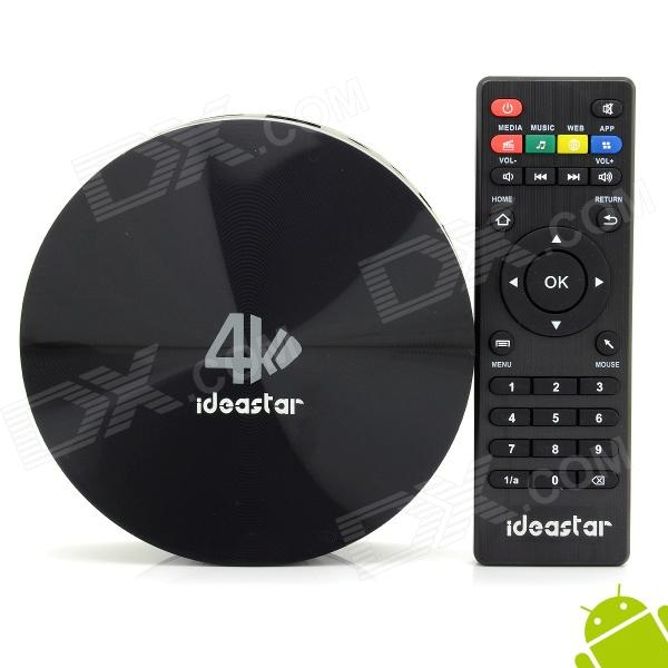 Ideastar S82 Quad-Core Android 4.4.2 Google TV Player w/ 2GB RAM, 16GB ROM, 5Ghz WiFi, XBMC, NETFLIX - DXSmart TV Players<br>Color Black Built-in Memory / RAM 2GB Storage 16GB Plug Specifications EU Plug (2-Round-Pin Plug) Brand Ideastar Model S82 Quantity 1 Piece Material Plastic Shade Of Color Black Operating System Android 4.4.2 Chipset Amlogic S802 CPU Cortex-A9 Processor Frequency 96MHz~1992MHz GPU Mali 450 Menu Language EnglishFrenchGermanItalianSpanishPortugueseRussianVietnamesePolishGreekDanishNorwegianDutchArabicTurkishJapaneseBahasa IndonesiaKoreanThaiHungarianMalaySlovakCzechGreekRomanianSwedishFinnishChinese SimplifiedChinese TraditionalBulgarianNorwegianHebrew RAM/Memory Type DDR3 SDRAM Max Extended Capacity 32GB Supports Card Type MicroSD (TF) External HDD 2TB Wi-Fi IEEE 802.11 b/g/n 2.4Ghz / 5Ghz Bluetooth Version V4.0 3G Function Yes Wireless Keyboard/Mouse 2.4Ghz / 5Ghz Audio Formats MP3WMAAPEFLACOGGAC3DTSAAC Video Formats RMRMVBAVIDIVXMKVMOVHDMOVMP4M4VPMPAVCFLVVOBMPGDATMPEGH.264MPEG1MPEG2MPEG4WMVTP Audio Codecs DTSAC3LPCMFLACHE-AAC Video Codecs MPEG-1MPEG-2MPEG-4H.264VC-1 Picture Formats JPEGBMPPNGGIFTIFFjps(3D)mpo(3D) Subtitle Formats MicroDVD [.sub]SubRip [.srt]Sub Station Alpha [.ssa]Sami [.smi]idx+subPGS Output Resolution 1080P HDMI HDMI 1.4 Audio Output HDMI AV Video Output HDMI AV USB USB 2.0Micro USB Other Interface 1 x TF card slot / 1 x Micro USB / 2 x USB 2.0 / 1 x LAN / 1 x DC jack / 1 x SPDIF / 1 x Audio Power Supply 100~240V APP Built-in XBMC Netflix Youtube Compatible Application FacebookYoutubeSkypeNetflixXBMCHulu Packing List 1 x Google TV player 1 x EU plug power cable (120cm) 1 x Micro USB cable (62cm) 1 x HDMI cable (150cm) 1 x AV cable (120cm) 1 x Remote control (Powered by 2 x AAA batteries not included) 1 x English user manual<br>