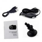 "Z1 Novatek 1080P 1.5"" TFT 140' Wide Angle 1.3MP CMOS Mini Car DVR w/ G-sensor - Black"