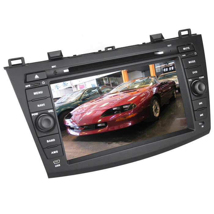 LsqSTAR ST-6418C 8 Android 4.1 Capacitive Screen Car DVD Player w/ GPS for Mazda 3 - Blackish Grey handheld professional humidity and temperature sd data logger with built in internal