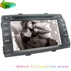 "LsqSTAR ST-8032C 7"" Android 4.1 Capacitive Car DVD Player w/ GPS + More for Kia Sorento - Black"