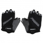 SK-01 Outdoor Cycling Men's Half-Finger Gloves - Black + Grey (Size-L)