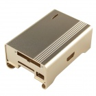 Protective Aluminum Alloy Case Enclosure Box for Raspberry PI Model B - Golden