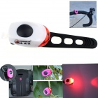 ZHISHUNJIA Waterproof 30lm 1-LED Red Light 2-Mode Warning Bike Light - White + Red (2 x CR1220)