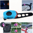 ZHISHUNJIA Waterproof 30lm 1-LED Red Light 2-Mode Warning Bike Light - Blue + Red (2 x CR1220)