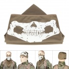 Outdoor Skull Style UV Protection Face Mask Hat w/ Neck Protection / Mask-Desert - Tan