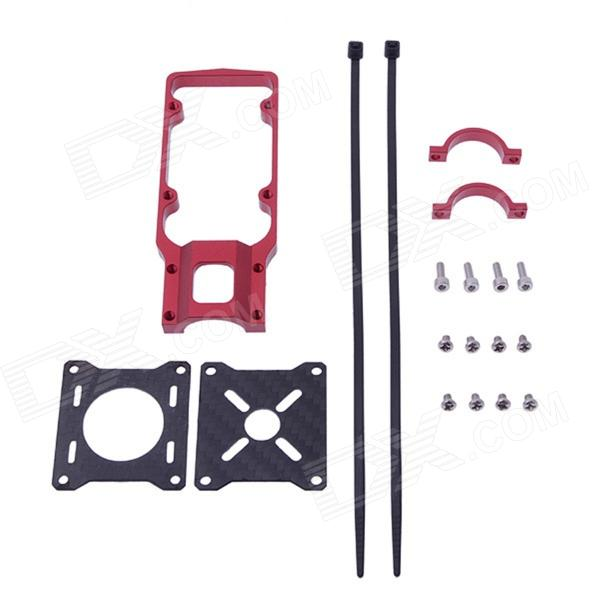 22mm CNC Aluminum Motor Mounting Holder Bracket for R/C Motors - Red