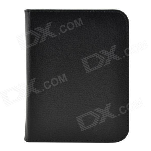 Litchee Pattern Protective PU Leather Case Cover for Nook GlowLight / Nook 4 - Black