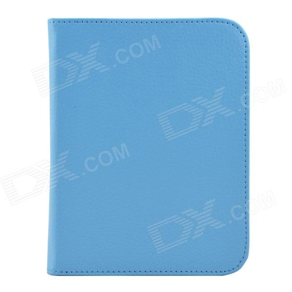 Litchee Pattern Protective PU Leather Case Cover for Nook GlowLight / Nook 4 - Sky Blue