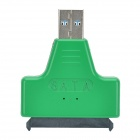 "USB 3.0 Male to SATA Female Adapter + USB 3.0 Male to Female Cable for 2.5"" Hard Disk - Green"