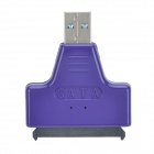 "USB 3.0 Male to SATA Female Adapter + USB 3.0 Male to Female Cable for 2.5"" Hard Disk - Purple"