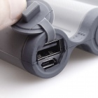 Cager B18 Portable 10400mAh Smart Li-ion Mobile Power Source for IPHONE / Cellphone + More - Grey