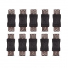 CM01 Professional USB 2.0 Female to Female Adapter - Black (10 PCS)