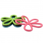 Plum Blossom Style 4-Color Heat Insulation Pad (4 PCS)