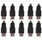 CM01 Micro USB Male to USB Female Adapter - Black (10 PCS)