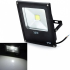 Outdoor Waterproof Flat Panel 30W 2500lm 6500K LED White Light Flood Lamp - Black (85~265V)