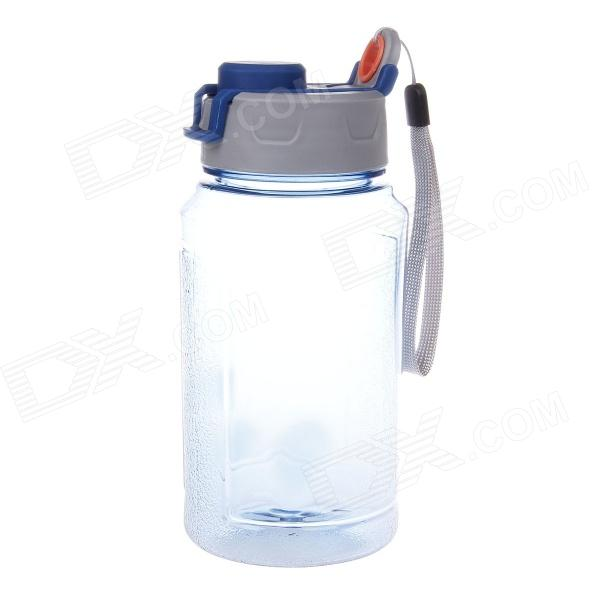 JINCHUN 934 Impact-resistant Plastic Sports Bottle w/ Double Cap / Strap - Blue + Grey (500ML)