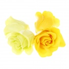 Romantic Rose Scented Soap Petals for Valentines Day / Wedding - Yellow + Green