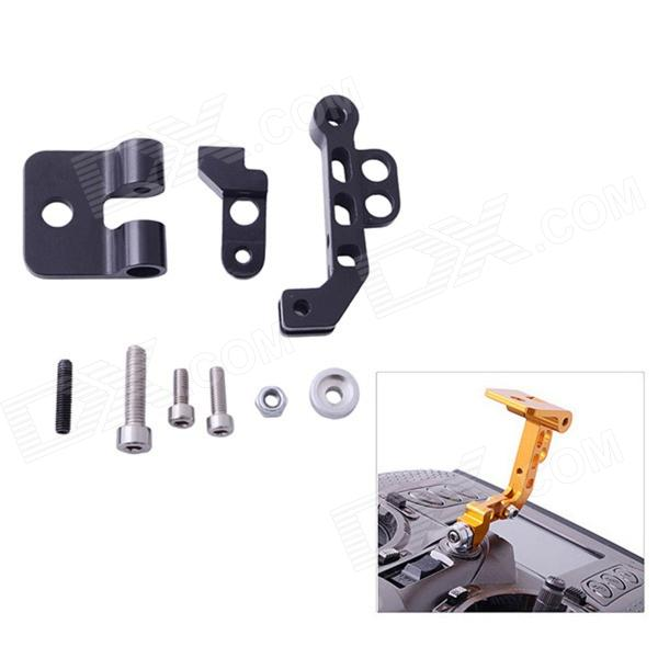 HJ CNC Aluminum Alloy FPV Monitor Mounting Bracket for Transmitters - Black